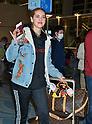 Chiara Ferragni arrives at Tokyo International Airport