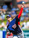 7 March 2009: Washington Nationals' pitcher Scott Olsen warms up prior to a Spring Training game against the New York Mets at Tradition Field in Port St. Lucie, Florida. The Nationals defeated the Mets 7-5 in the Grapefruit League matchup. Mandatory Photo Credit: Ed Wolfstein Photo
