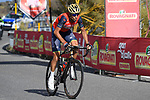 Local man Vincenzo Nibali (ITA) Bahrain-Merida in action on the slopes of Mount Etna during Stage 4 of the 100th edition of the Giro d'Italia 2017, running 181km from Cefalu to Mount Etna, Sicily, Italy. 9th May 2017.<br /> Picture: LaPresse/Fabio Ferrari | Cyclefile<br /> <br /> <br /> All photos usage must carry mandatory copyright credit (&copy; Cyclefile | LaPresse/Fabio Ferrari)