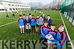 CBS The Green Launch the new all-weather pitch, Pictured front l-r Andrew Breen, James Friel, Josh Wadding, Back l-r David Lenihan, Austin Clifford,  Anne O'Callaghan, Principal, Ben Foley, David Oba, Dean Scanlon, John Ward, Mark Ryall, Teacher Coach, Vice-Principal Robert O'Flaherty