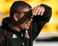 Assistant coach Chad Ashton of D.C. United during the final round of the Carolina Challenge Cup against Toronto FC on March 12 2011 at Blackbaud Stadium in Charleston, South Carolina. D.C. The game ended in a 2-2 tie which was sufficient for D.C. United to win the tournament.