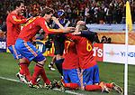 Fussball WM2010 Achtelfinale: Spanien - Portugal