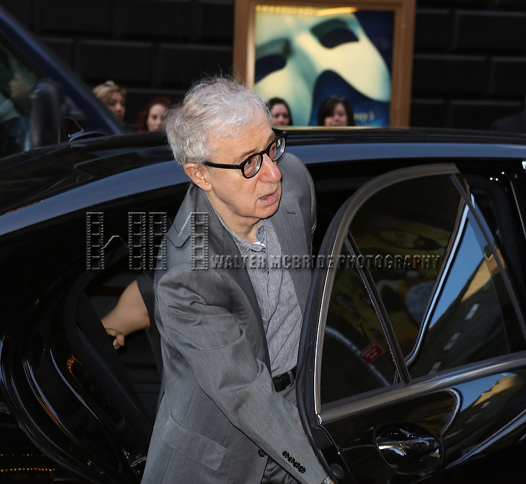 Woody Allen attending the Broadway Opening Night Performance of ''Bullets Over Broadway' at the St. James Theatre on April 10, 2014 in New York City.