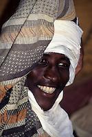 Niger - Tuareg Man, Smiling