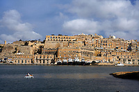General view of Valletta seafront showing the Upper Barakka Gardens, seen from the Three Cities, Valletta, Malta, pictured on June 6, 2008, in the morning. The Republic of Malta consists of seven islands in the Mediterranean Sea of which Malta, Gozo and Comino have been inhabited since c.5,200 BC. It has been ruled by Phoenicians (Malat is Punic for safe haven), Greeks, Romans, Fatimids, Sicilians, Knights of St John, French and the British, from whom it became independent in 1964. Nine of Malta's important historical monuments are UNESCO World Heritage Sites, including  the capital city, Valletta, also known as the Fortress City. Built in the late 16th century and mainly Baroque in style it is named after its founder Jean Parisot de Valette (c.1494-1568), Grand Master of the Order of St John. Picture by Manuel Cohen.