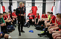 BNPS.co.uk (01202 558833)<br /> Pic: RichardCrease/BNPS<br /> <br /> Howe's team talk emphasised 'core values' and 'hard work'.<br /> <br /> Charity football match in aid of the Louis Ross Foundation held at Wimborne Town Football Club  with guest managers Eddie Howe and Graeme Souness taking charge of the  two teams made up of former school friends and football friends of Louis, 17, who died in a skiing accident in France.