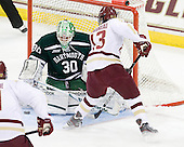 Charles Grant (Dartmouth - 30), Johnny Gaudreau (BC - 13) - The Boston College Eagles defeated the visiting Dartmouth College Big Green 6-3 (EN) on Saturday, November 24, 2012, at Kelley Rink in Conte Forum in Chestnut Hill, Massachusetts.