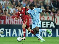 FUSSBALL   CHAMPIONS LEAGUE   SAISON 2011/2012     27.09.2011 FC Bayern Muenchen - Manchester City FC Franck Ribery (li, FC Bayern Muenchen) gegen Yaya Toure  (Manchester City)