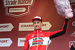 Tim Wellens (BEL) Lotto-Soudal finishes in 3rd place on the podium at the end of the 2017 Strade Bianche running 175km from Siena to Siena, Tuscany, Italy 4th March 2017.<br /> Picture: Eoin Clarke | Newsfile<br /> <br /> <br /> All photos usage must carry mandatory copyright credit (&copy; Newsfile | Eoin Clarke)