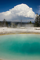Blue Funnel Spring is a hot spring located in the Lower Group of the West Thumb Basin on the shore of Yellowstone Lake.