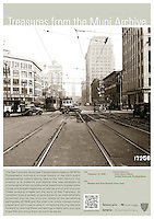 Market and 1st Sts, Looking East | February 12, 1938 | Treasures from the Muni Archive