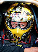 Jun 3, 2016; Epping , NH, USA; NHRA funny car driver Mike Smith during qualifying for the New England Nationals at New England Dragway. Mandatory Credit: Mark J. Rebilas-USA TODAY Sports