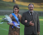 Brittany Hodge is escorted by Kenneth Goolsby during Homecoming ceremonies before the Water Valley vs. J.Z. George football game in Water Valley, Miss. on Friday, September 10, 2010.