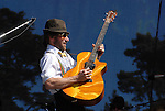 Guitar player of Poor Man's Whiskey at hardly Strictly Bluegrass