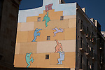 Wall Mural showing Team Work in Tarragona, Catalonia, Spain