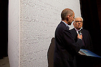 Venice, Italy - 15th Architecture Biennale 2016, &quot;Reporting from the Front&quot;.<br /> Arsenale.<br /> Biennale President Paolo Baratta (r.)