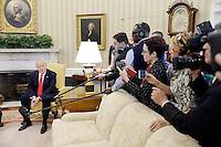 FEB 24 Trump meets with President Pedro Pablo Kuczynski of Peru