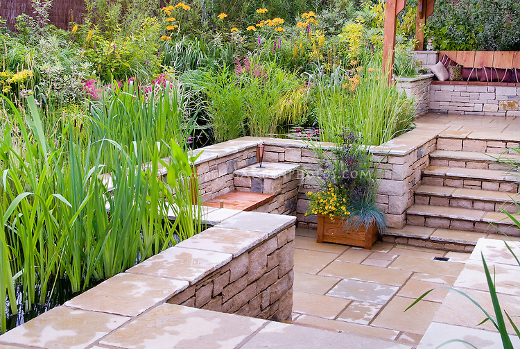 Herb Patio Garden Ideas Photograph | Patio on several levels
