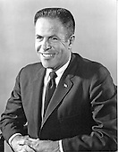 """Portrait of H. R. """"Bob"""" Haldeman taken in Washington, D.C. on May 8, 1971.  He served as Chief of Staff for United States President Richard M. Nixon until his forced resignation on April 30, 1973 for his involvement in the Watergate Affair.  Haldeman served 18 months in prison for his role in Watergate.  He was born Harry Robbins Haldeman on October 27, 1926 in Los Angeles, California.  He died of cancer at his home in Santa Barbara, California on November 12, 1993..Credit: Ron Sachs / CNP"""