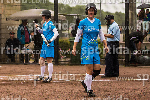 Slovenia vs Austria during XIX European Softball Fastpitch  Championship Women, on July 20, 2015 in Rosmalen,  Netherlands. Photo by Grega Valancic / Sportida