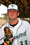 24 June 2008: Vermont Lake Monsters pitcher Pat McCoy. Baseball Card Image for 2008. For in-house use by the Vermont Lake Monsters Only. Editorial or other use of images by other publications or media outlets must secure licensing from the photographer Ed Wolfstein prior to publication, and is based on standards of circulation, and placement in a given publication...Mandatory Credit: Ed Wolfstein.