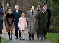 British Royals attend Christmas Day Service