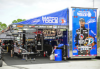 Jan. 17, 2012; Jupiter, FL, USA: The pit area of NHRA top fuel dragster driver Antron Brown during testing at the PRO Winter Warmup at Palm Beach International Raceway. Mandatory Credit: Mark J. Rebilas-