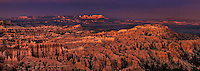 904000013 panoramic view of a clearing summer storm at sunset from sunset point in bryce canyon national park utah