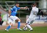 St Johnstone v Inverness Caley Thistle...02.05.15   SPFL<br /> Gary Miller and Aaron Doran<br /> Picture by Graeme Hart.<br /> Copyright Perthshire Picture Agency<br /> Tel: 01738 623350  Mobile: 07990 594431
