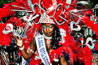Nitting Hill Carnival Character - 2011<br /> <br /> London, 28-29/08/2011. Since 1966 the August Bank Holiday has been the date of the Notting Hill Carnival. In the last two days, over a million people gathered on the famous West London streets to enjoy the biggest street festival in Europe, taking in Caribbean colourful costumes, music and a global variety of food.