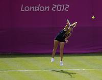 Ekaterina Makarova & Elena Vesnina - Russia..Tennis - OLympic Games -Olympic Tennis -  London 2012 -  Wimbledon - AELTC - The All England Club - London - Saturday 28th June  2012. .© AMN Images, 30, Cleveland Street, London, W1T 4JD.Tel - +44 20 7907 6387.mfrey@advantagemedianet.com.www.amnimages.photoshelter.com.www.advantagemedianet.com.www.tennishead.net