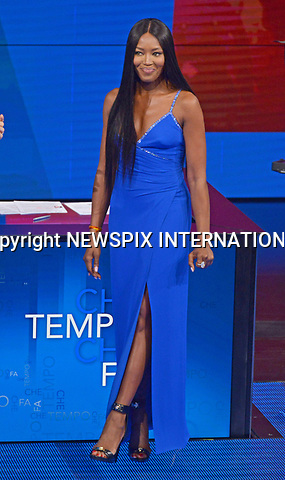 12.03.2017; Milano, Italy: NAOMI CAMPBELL<br /> broke down in tears as she spoke to chat show host Fabio Fazio about the late Italian Vogue editor&nbsp;Franca Sozzani, on the Italian TV show &ldquo;Che Tempo Che Fa&rdquo;.<br />