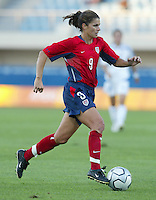 11 August 2004:  Mia Hamm in action against Greece at Pankritio Stadium in Heraklio, Greece.. USA defeated Greece, 3-0. Credit: Michael Pimentel / ISI