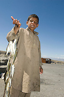 Fish sellers on the road in between Jalalabad and Kabul.