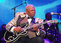 Legendary musician B.B.King preforms in New Orleans Saturday May 30,2009 as part of the Domino Effect Benefit concert which also featured B.B. King and Chuck Berry. Domino Effect Benefit Concert legendary performers gather in New Orleans at the Arena to raise funds and awarness for hurricane Katrina rebuilding for Fats Domino the Tipatina Foundation and the Drew Brees' foundation. Photo©Suzi Altman ALL IMAGES ©SUZI ALTMAN. IMAGES ARE NOT PUBLIC DOMAIN. CALL OR EMAIL FOR LICENSE, USE, OR TO PURCHASE PRINTS 601-668-9611 OR EMAIL SUZISNAPS@AOL.COMPhoto©Suzi Altman
