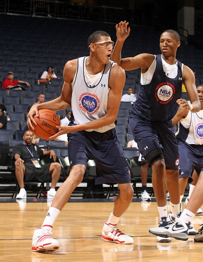Isaiah Austin at the NBPA Top100 camp June 17, 2010 at the John Paul Jones Arena in Charlottesville, VA. Visit www.nbpatop100.blogspot.com for more photos. (Photo © Andrew Shurtleff)
