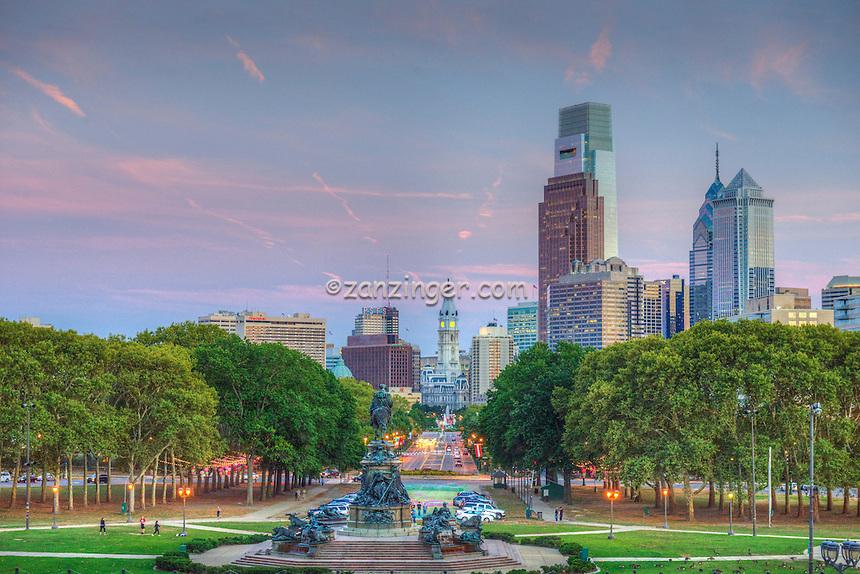 Philadelphia City Hall, PA; Urban; Architecture; Buildings; Skyscrapers, Cityscape; Architectural