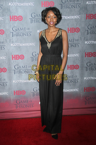 NEW YORK, NY - MARCH 18: Amanda Warren at the 'Game Of Thrones' Season 4 New York premiere at Avery Fisher Hall, Lincoln Center on March 18, 2014 in New York City.  <br /> CAP/MPI/RW<br /> &copy;RW/MPI/Capital Pictures