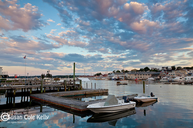 Sunrise in Boothbay Harbor, Boothbay, ME, USA