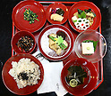 July 20, 2010 - Niiza, Japan - Japanese Shojin-Ryori dishes are pictured in a restaurant near  Heirinji, Rinzai temple of the Myoshin-ji branch located in Niiza city, Japan, on July 20, 2010. Visiting the temple and taste the buddhist vegetarian cuisine is part of a 'True Japan Saitama' tour, organized by the travel agency JTB for leisure travelers.