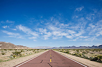 Kelbaker road through Mojave desert, near Amboy, California