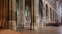 Nave and ambulatory, 12th century, Abbey church of Saint Denis, Seine Saint Denis, France. Picture by Manuel Cohen