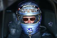 Jun 12, 2016; Englishtown, NJ, USA; NHRA funny car driver Jack Beckman during the Summernationals at Old Bridge Township Raceway Park. Mandatory Credit: Mark J. Rebilas-USA TODAY Sports