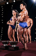 Atlantic City, April 24, 1981. Chris Dickerson and Lynn Conkwright winners of the World Bodybuilding Championships.