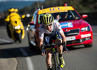 Picture by Alex Broadway/SWpix.com - 10/03/17 - Cycling - 2017 Paris Nice - Stage Six - Aubagne to Fayence - Simon Yates of Orica-Scott on his way to winning Stage Six.