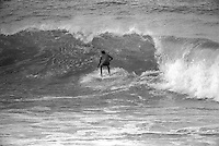 Defending Champion Michael Peterson  (AUS), surfing during Bells Beach Easter Classic , Torquay, Victoria, Australia. The contest was won by jeff Hackaman HAW) , the first forgien surfer to ever win the event. circa 1976..Photo: Joliphotos.com