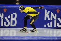 SCHAATSEN: HEERENVEEN: 25-10-2014, IJsstadion Thialf, Trainingswedstrijd schaatsen, Douwe de Vries, ©foto Martin de Jong