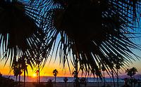 Santa Monica Bay amid the sunset on Sunday, November 10, 2013.