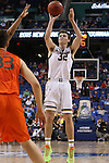 12 March 2015: Notre Dame's Steve Vasturia. The Notre Dame Fighting Irish played the University of Miami Hurricanes in an NCAA Division I Men's basketball game at the Greensboro Coliseum in Greensboro, North Carolina in the ACC Men's Basketball Tournament quarterfinal game. Notre Dame won the game 70-63.