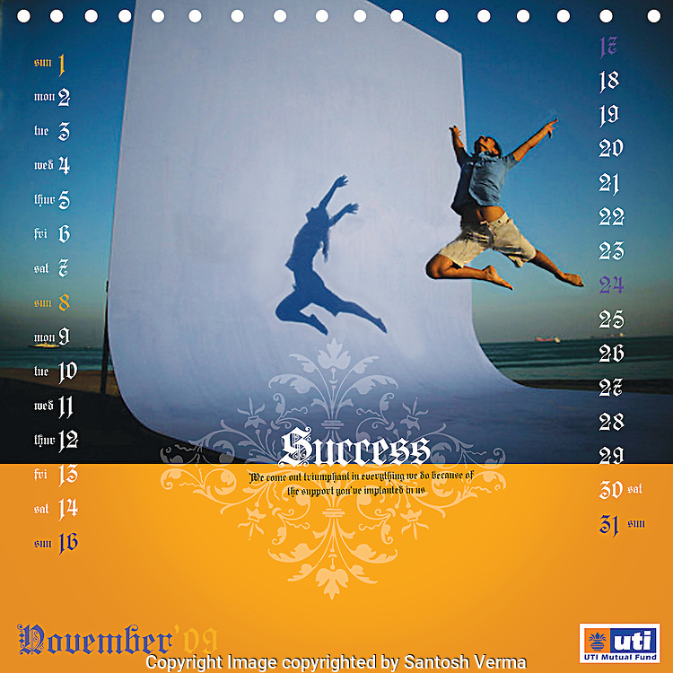 A sample of 12 page calender from my image collection for UTI